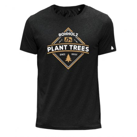 Plant Trees T-Shirt anthrazit - Rohholz