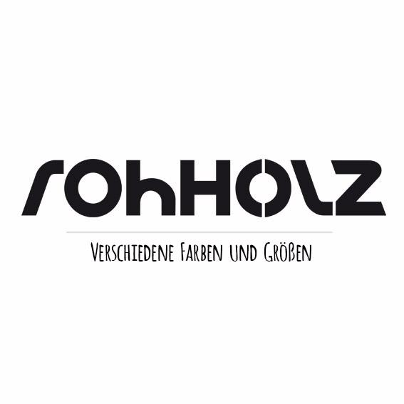 Rohholz Logo Sticker Aufkleber
