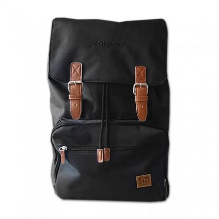 Daypack black Rucksack - ROHHOLZ Rucksäcke & Taschen
