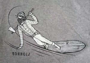 Lumberjack T-Shirt Detail- Rohholz