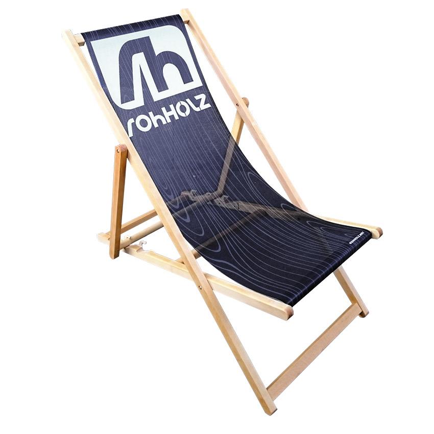 Beach Chair - Rohholz Liegestuhl aus Holz