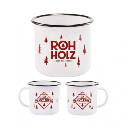 Rohholz Camping Tasse Mug