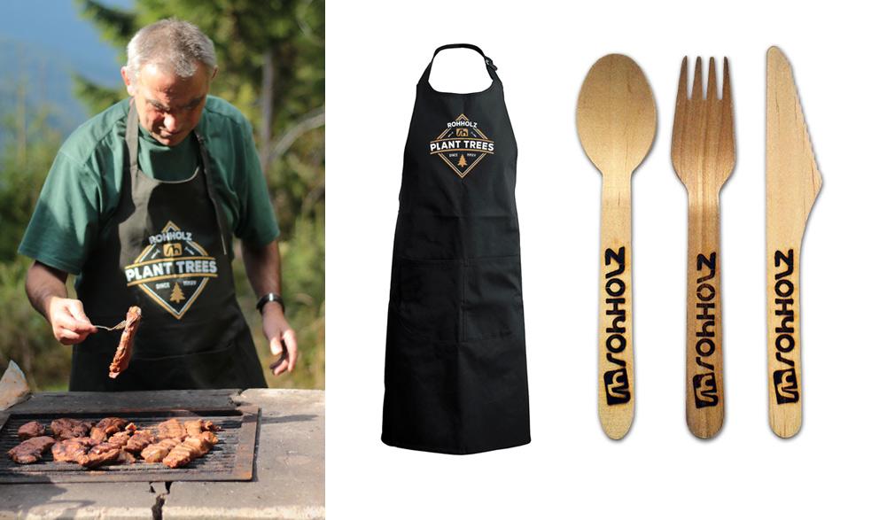 Grillsaison - Rohholz BBQ Set