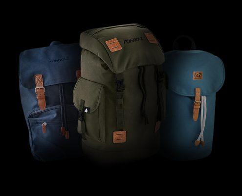 Rucksack packen - Rohholz Rucksäcke