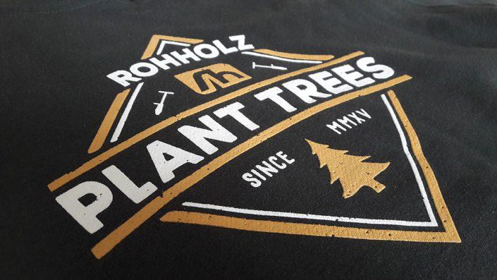 Print Detail - Rohholz Plant Trees Hoodie