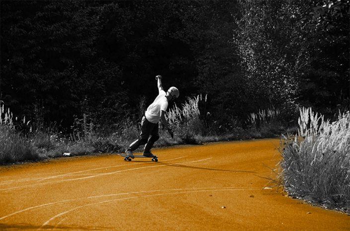 Longboard Slides im Erzgebirge - Rohholz Skateboards