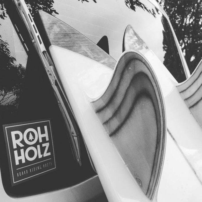 retro woodfins sticker - Rohholz surfing