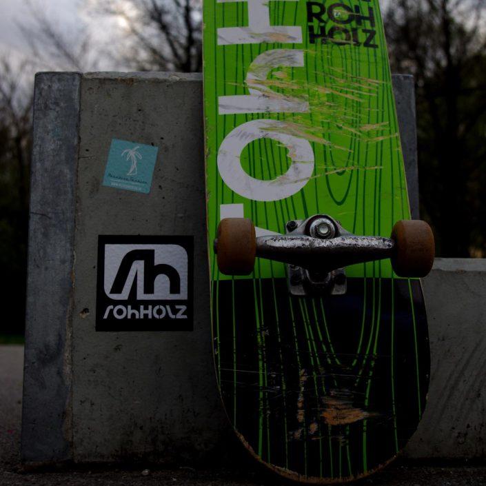 skatepark olching sticker - Rohholz skateboarding
