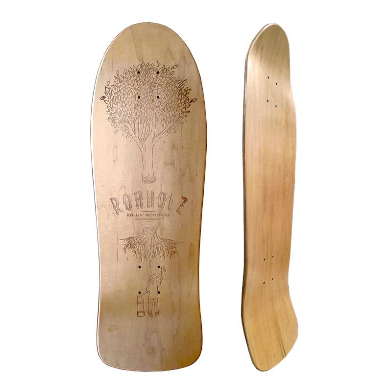 Rollin Memories Skateboard - Rohholz
