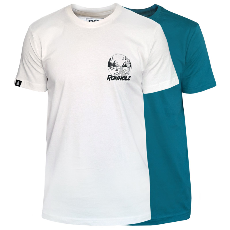 Rohholz Camp T-Shirts nature lake