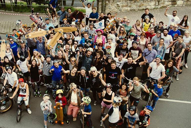 Erfurter Rollrunde 2018 - Rohholz Skateboards & Longboards