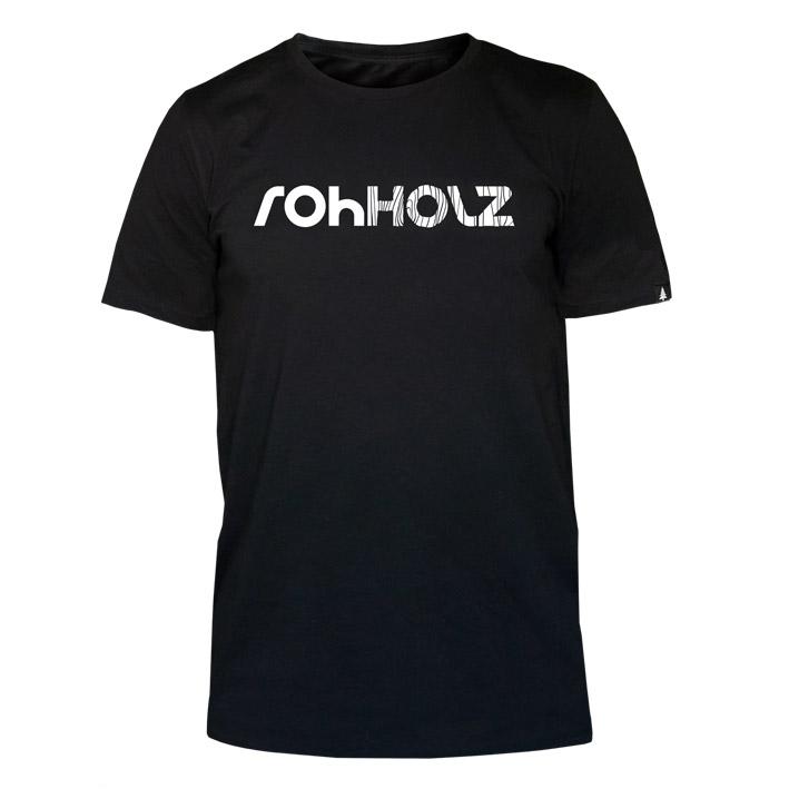 Rohholz Logo T-Shirt schwarz