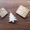 Rohholz logo wood pins - Holz Anstecker