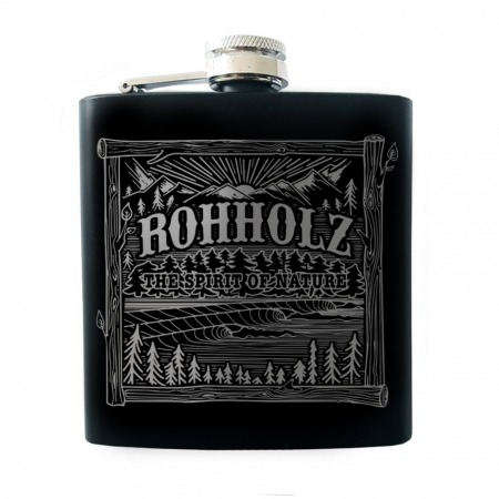 Rohholz Flachmann - Black Hip Flask