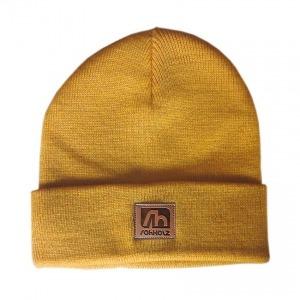 mustard beanie - Rohholz Mütze