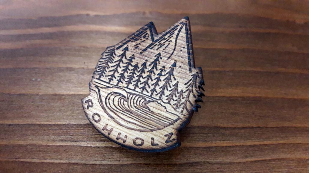 Nature Pin Set - Holz Anstecker