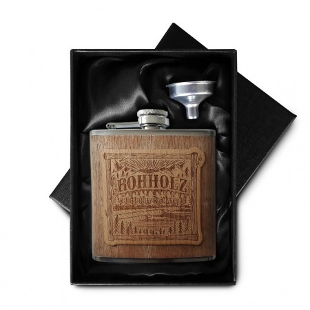 Rohholz Flachmann Wood Box - Hip Flask