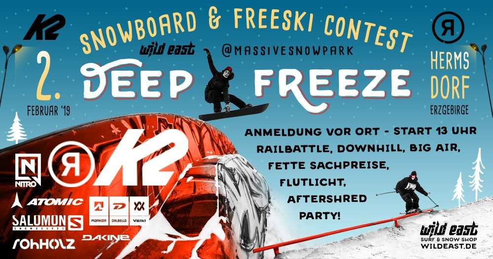 Deep Freeze Snowboard & Freeski Contest im Erzgebirge