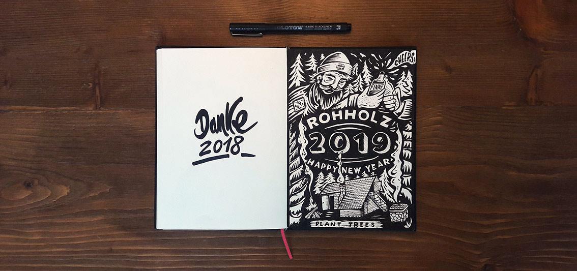 Happy New Year 2019 - Rohholz