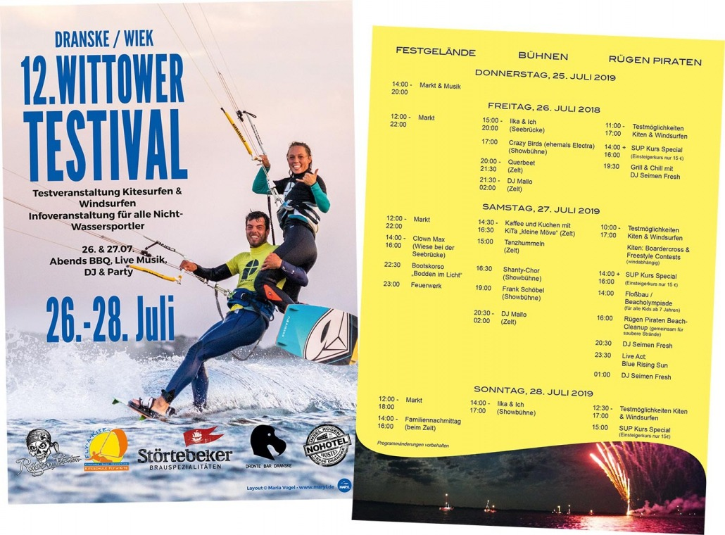 Wittower Testival 2019 mit Rohholz Kiteboards