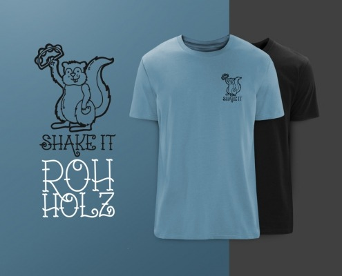Rohholz Squirrel T-Shirts - Shake it!