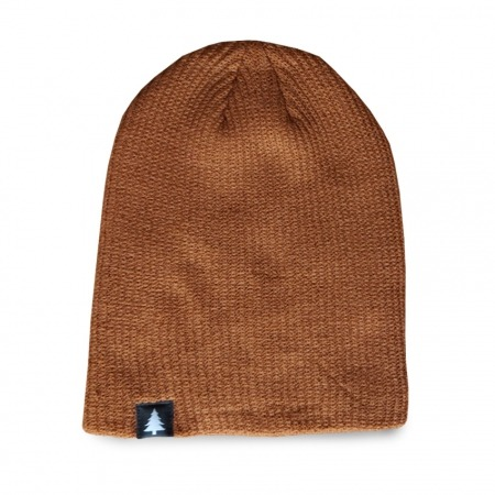 Long Tree Beanie - autumn brown Rohholz