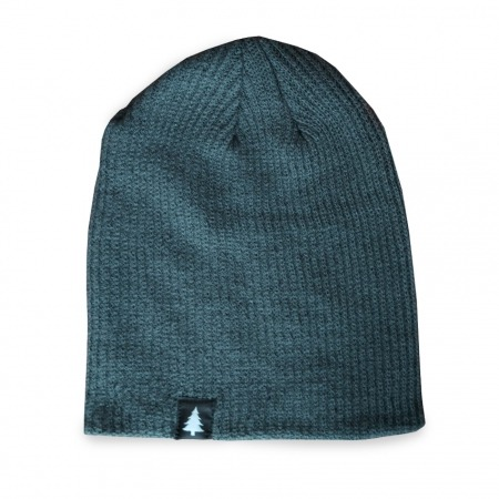 Long Tree Beanie - forest grey Rohholz
