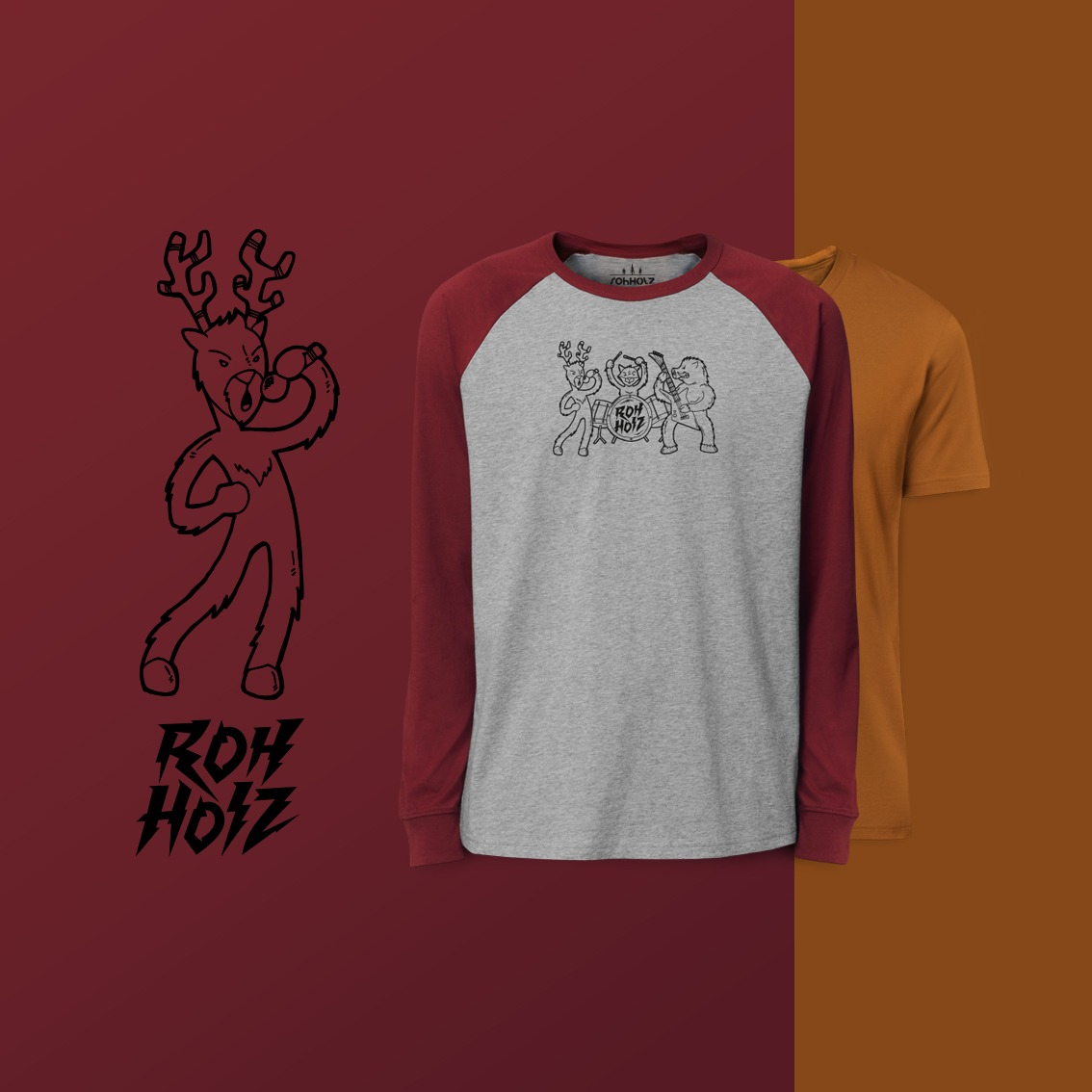 Rohholz Animal Band T-Shirt & Animal Band Longsleeve