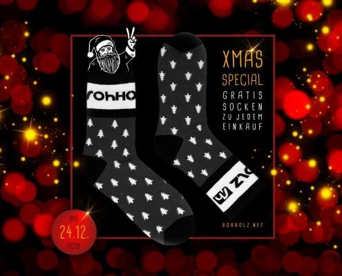 Gratis Socken Xmas Special - Rohholz