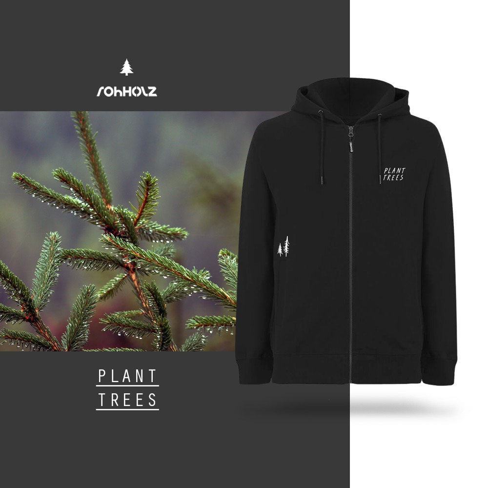 Rohholz Plant Trees Zip Hoodie