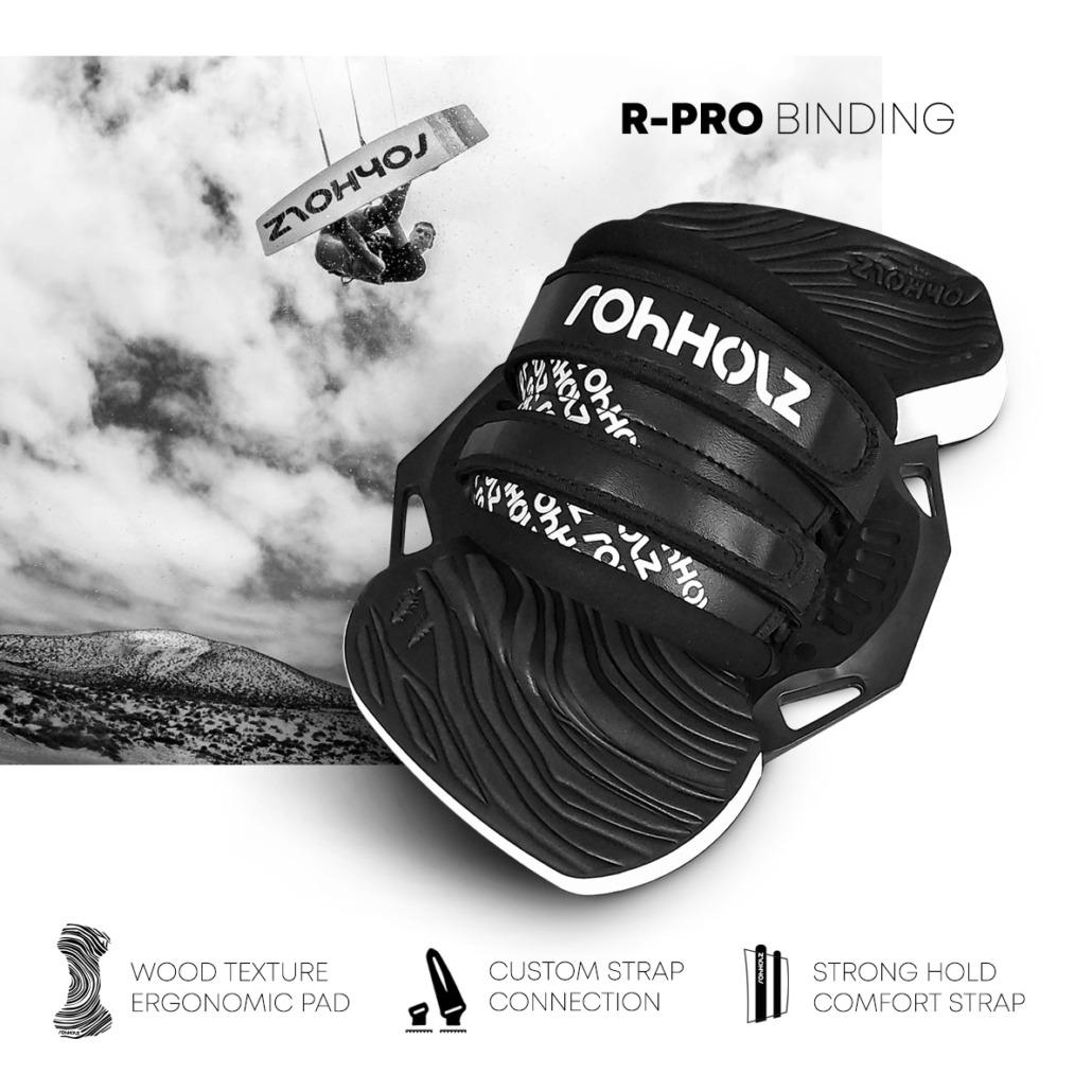 R-Pro Kiteboard Bindung - Rohholz